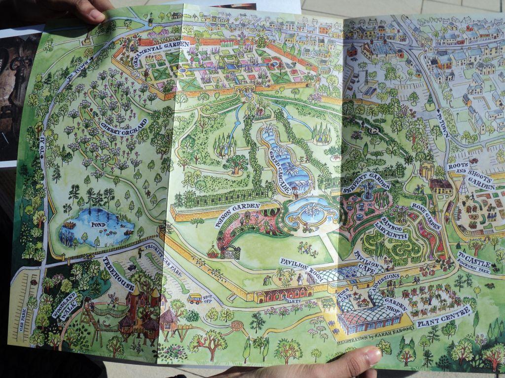 Map of Alnwick Gardens