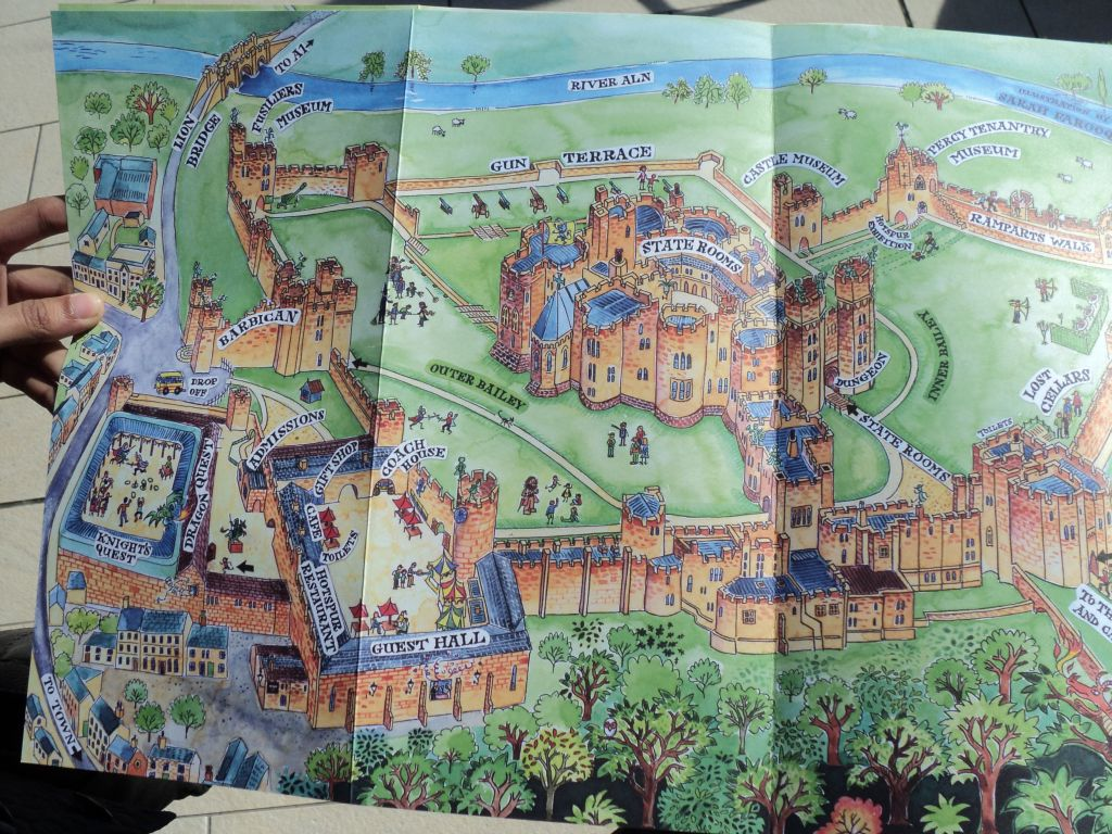 Map of Alnwick Castle