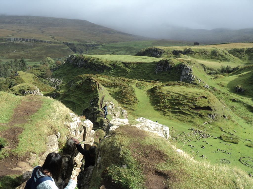 View from the top of Fairy Glen