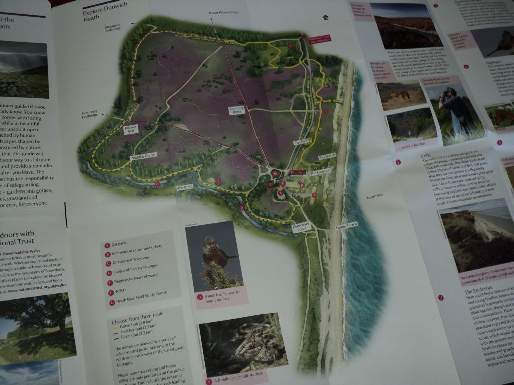 Map of the walking trail