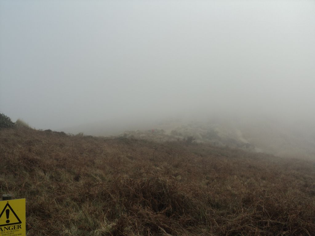 Minsmere Beach covered in mist