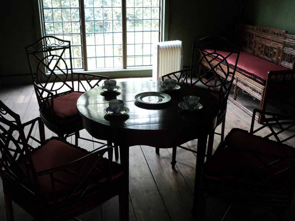 The dining room in Queen Charlotte's cottage