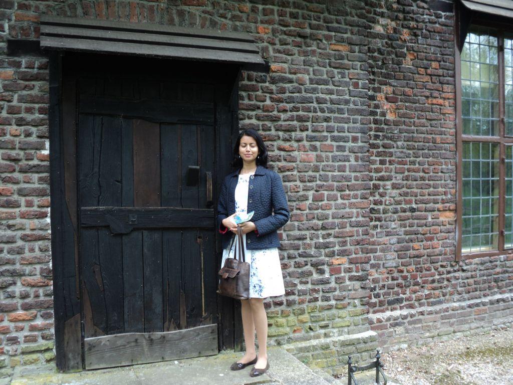 Ashwina outside Queen Charlotte's cottage