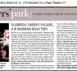 Featured in Mumbai Mirror's Bloggers' Park