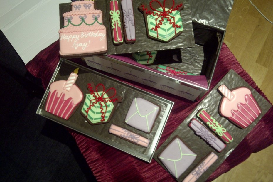 Biscuiteers - personalised happy birthday biscuit tin from Ashwina