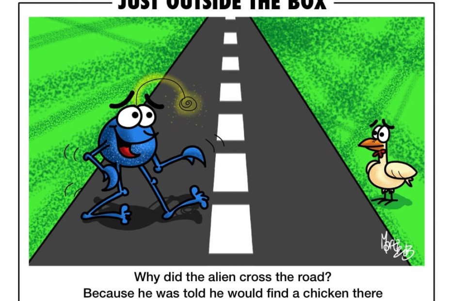 Alien cross the road