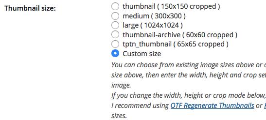 CRP Thumbnail Options