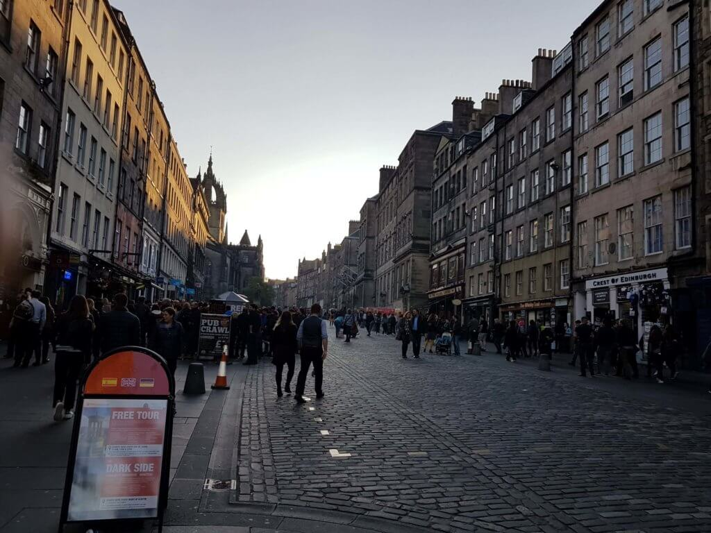 The Royal Mile at dusk