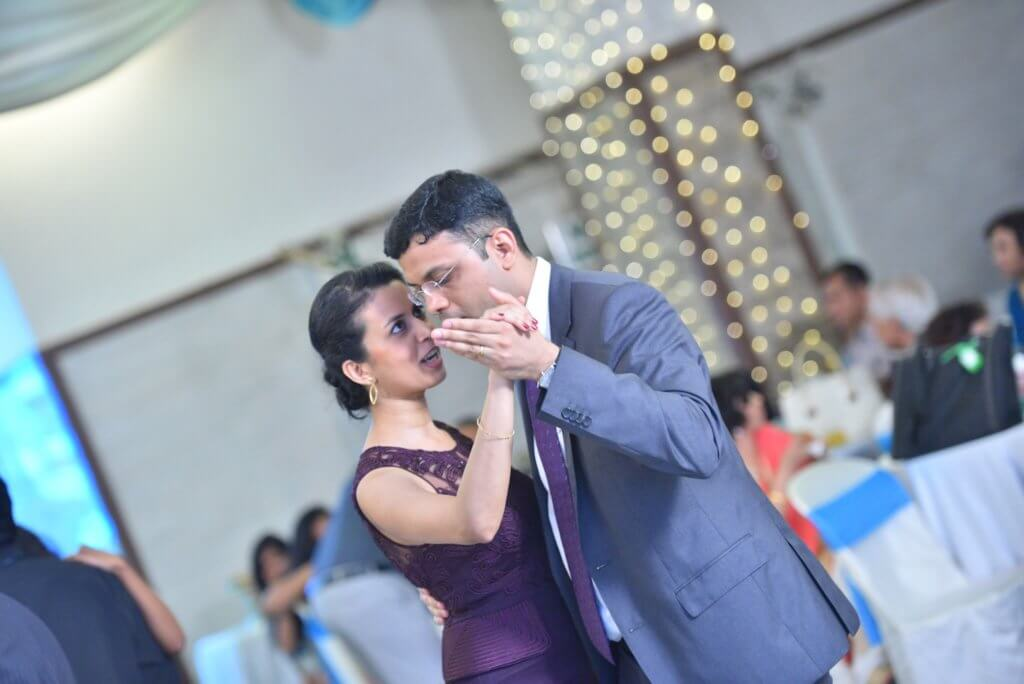 Ashwina and me dancing