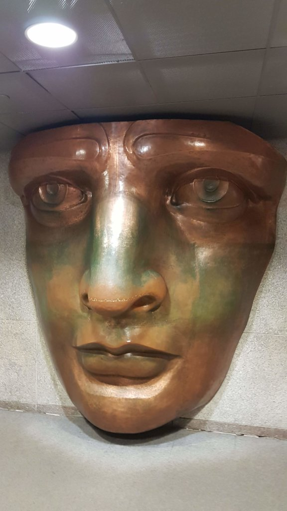 True-to-scale replica of the face