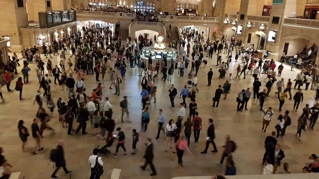 The hustle and bustle of Grand Central Station, New York