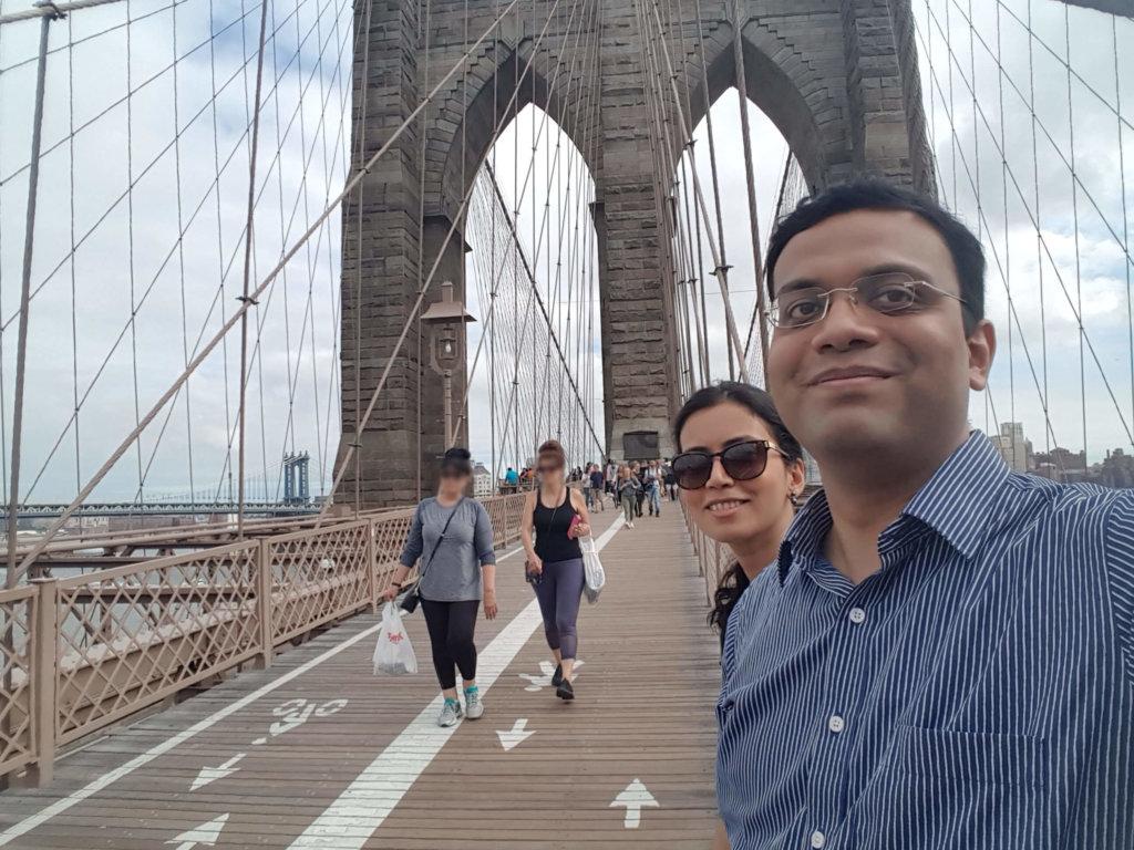 Ashwina and I pausing to take a selfie