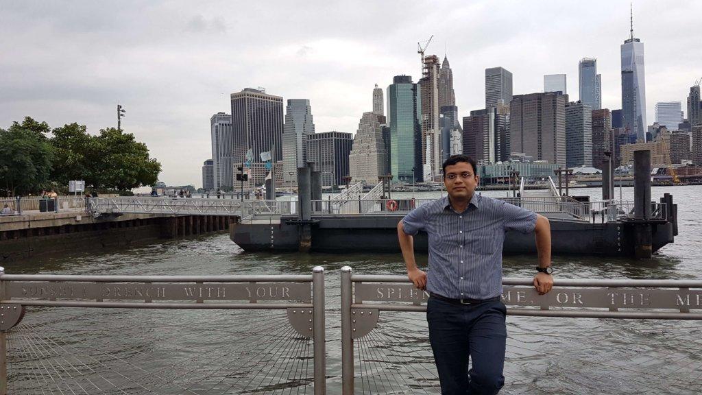 Manhattan behind me