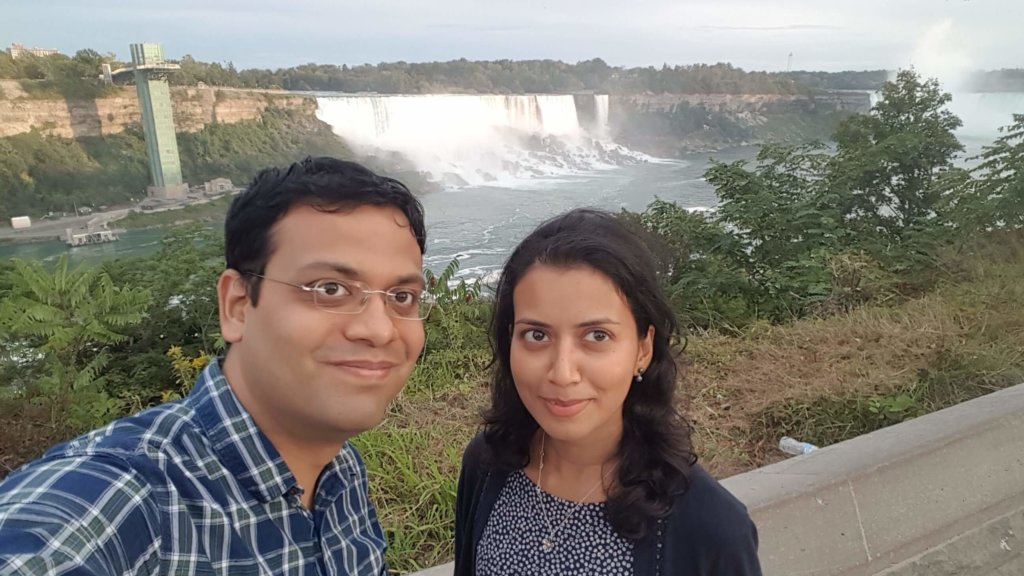 In front of the The Niagara Falls