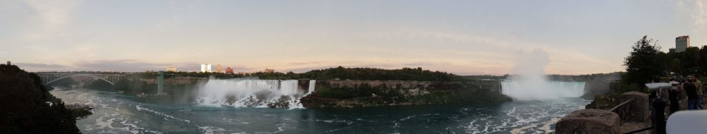 Panoramic view of The Niagara Falls