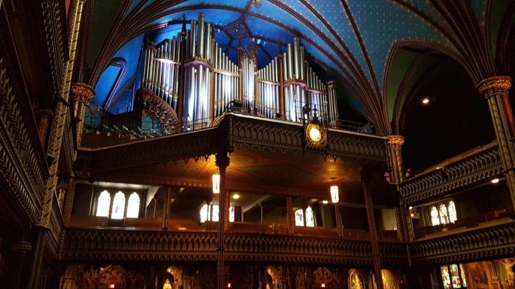 The pipe organ at Notre-Dame Basilica