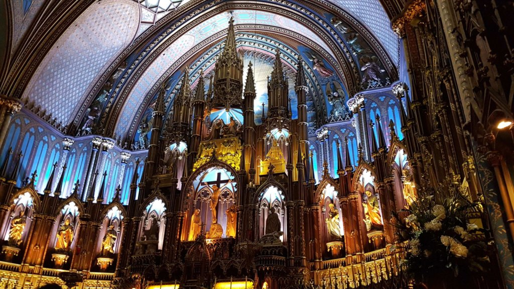 The altar at Notre-Dame Basilica Montreal
