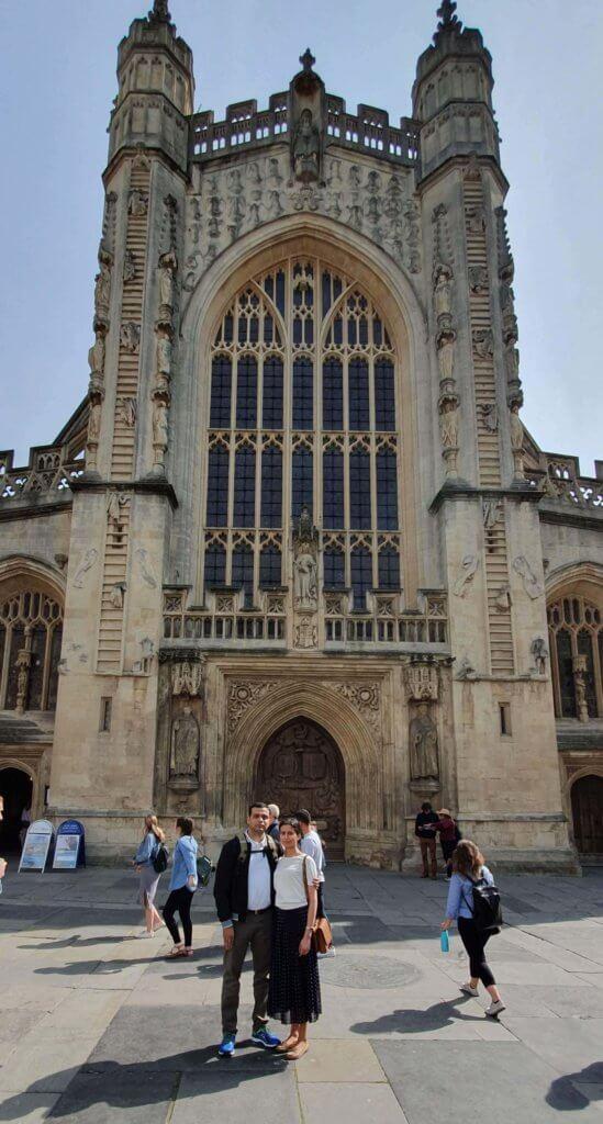 Us in front Bath Abbey