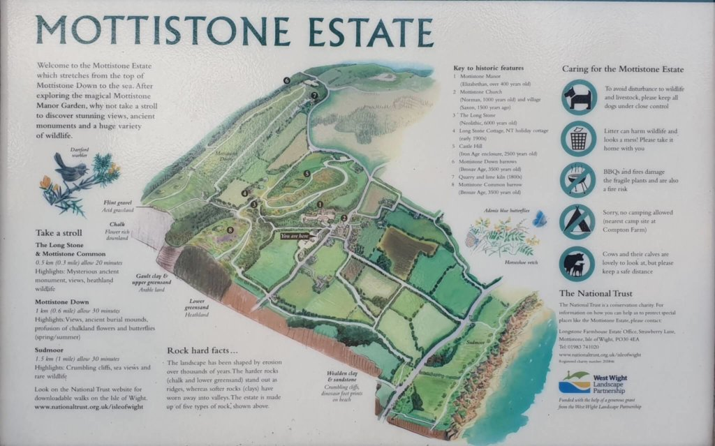 Map of the Mottistone Estate
