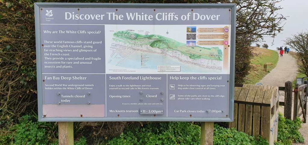 Map of The White Cliffs of Dover