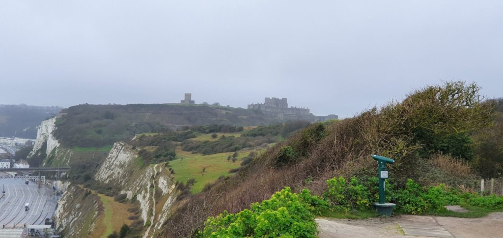 Dover Castle in the distance