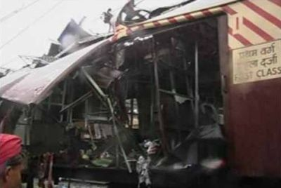 A picture of one the trains in the blast. Photo courtesy IBN-Live