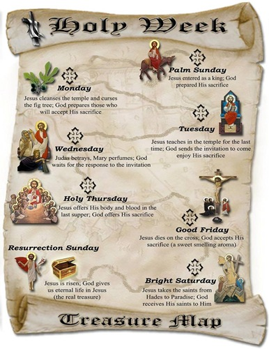 Holy Week Map