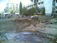 The road near Manhole 03