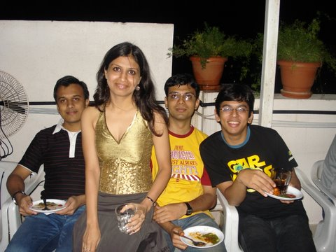 Aditya, Akshat and me with the birthday girl Sumukhi
