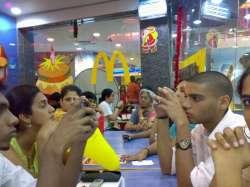 Folks at McDonalds at The Hub