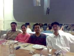 Arijit, Namrata, Aditya and Rahul