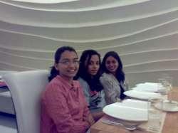 Monika, Sneha's cousin Shweta and Sneha