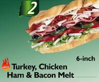 The Turkey Chicken Ham & Bacon Melt